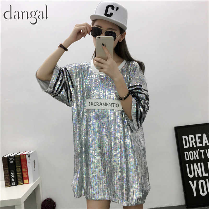 Detail Feedback Questions about Necklace Sequin T shirt 2018 Fashion Hip  Hop Bling T shirt Half Sleeve T shirt Women Street T Shirt For Stage Dance  Club ... a4457aa832b5