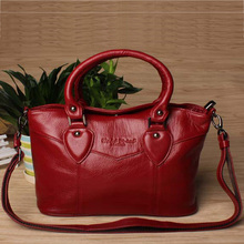 New hot selling genuine leather women messenger bags with large capacity female shopping shoulder bag handbags for women K063(China)