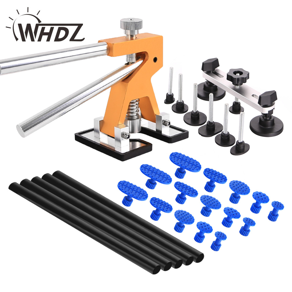 WHDZ PDR Tool Kit Glue Puller Hand Lifter 15pcs Tab Glue Stick Paintless Dent Repair tools Car Body Dent Repair Hand Tools +gift<br>