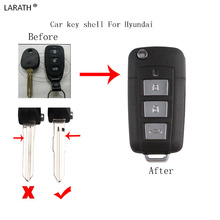 LARATH 3+1 Buttons Modified Folding Car key shell Fob For HYUNDAI Elantra Sonata Genesis 2006-2013 Car Key Cover(China)