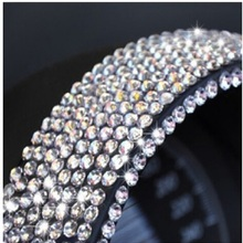 (50 pieces/lot ) Wholesale 3mm Crystal Rhinestone Diamond Stickers Decals For Car/Wall /Glass/telephone Car styling