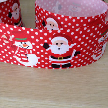 Pick Size 9 16 22 25 38 50 75 mm Width Christmas Grosgrain Ribbon Hair Bows P1603(China)