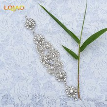1pc Flower Popular New-Style Clear Crystal Rhinestone Applique Beaded Strass Trimmings Hotfix Motif for Garment Accessory RA1005