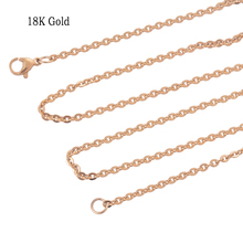 2.4MM 316L stainless steel necklace chains, women Gold stylish accessories necklaces jewelry BT021