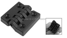 40mm x 40mm Countersunk Hole Plastic Cabinet Ball Bearing Hinge Black 10 PCS