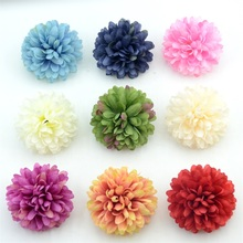5PCS 7cm Artificial Chrysanthemum Silk Flower Head For Home Wedding Party Decoration Scrapbooking DIY Hydrangea Flowers Wall