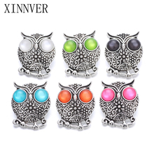Buy 10Pcs/lot Xinnver Snap Jewelry Owl Snap Button Fit 18MM Snap Bracelet Women DIY Charms Jewelry ZA632 for $3.70 in AliExpress store