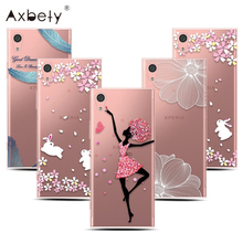 "For Sony Xperia XA1 Case Transparent Flower Fairy Clear Soft Silicone Cover Fundas For Sony Xperia XA 1 5.0"" Pink TPU Case"