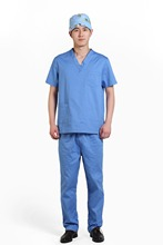 2015 OEM men medical scrub sets medical scrub set clothes surgical gowns(China)