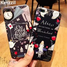 Kerzzil 3D Relief Soft Cartoon Alarm Clock Dream Case For iPhone 7 6 6S Plus Phone Cute Princess Cover Back For iPhone 6 7 6S