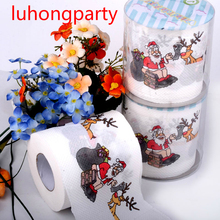 2packs Christmas Printing Paper Toilet Tissues Novelty Roll Toilet Paper for Christmas decoration Wholesale(China)