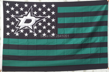 Dallas Stars USA Star and Stripes Team American Outdoor Indoor Hockey Flag 3X5 Custom USA Any Team Flag(China)