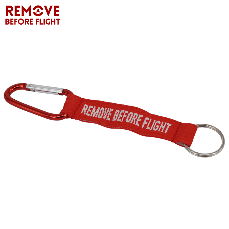 Remove Before Flight Key Chain Llaveros Hombre Red Keychain Woven Letter Keyring Jewelry Aviation Tags OEM Key Chains Safety Tag (1)