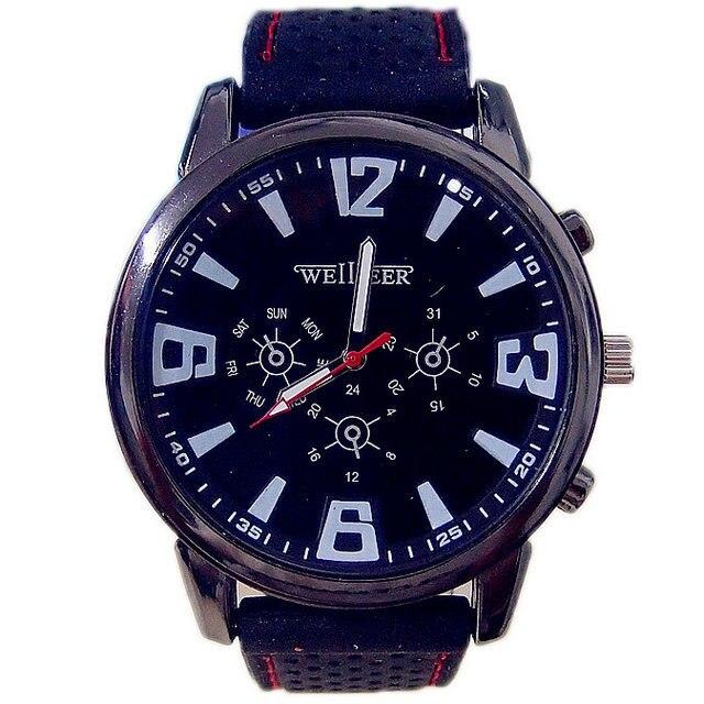 Promotion Pilot Aviator Army Silicone Watch Men Sports Quartz Wrist Watch Hour Relogio Masculino 1913<br><br>Aliexpress