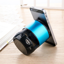Stereo Bass Wireless Bluetooth Phone Holder Speaker Subwoofer Portable Mini Sound Box Loudspeaker for PAD Cell Phone