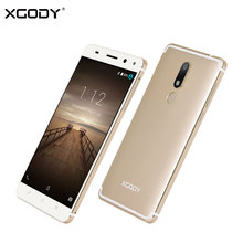 XGODY D22 4G Unlocked Smartphone Android 7.0 Nougat 2G+16G Fingerprint Touch Smart Mobile Phone 5.5 Inch Dual Sim Card Cellphone(China)