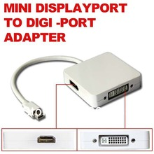 2015 3 in 1 Mini DisplayPort to HDMI DVI DP Display Port Adapter Cable 2560 x 1600 for Apple MackBook Pro Air