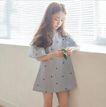 2017 New Fashion Girls Star Printed Dress Summer Off Shoulder Girls Dresses J278