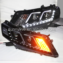 2010-2013 year For HONDA Crosstour LED Strip Headlights Bi Xenon Projector Lens F style DGZ