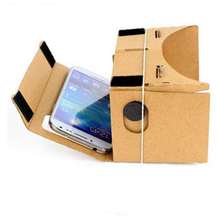 Easy DIYCardboard Quality 3D VR Virtual Reality Glasses Cardboard&Resin LensCompatible With 4-6 Inch Screen CellPhone For Google