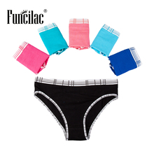 Buy FUNCILAC Underwear Women Sexy Briefs Solid Knickers Cotton Briefs Women Fashion Ladies Panties Girls Underpants 5Pcs/Lot