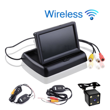 Car Styling Wireless 4.3 inch TFT LCD Screen Car Monitor Display for Rear View Reverse Backup Camera Car TV Display Wifi(China)