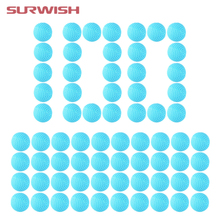 Surwish 100pcs Round Dart Refills Foam Bullets for Rival Zeus Apollo for Nerf Toy Gun - Blue(China)