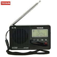 2 Colors TECSUN PL-118 Radio DSP FM Radio Stereo Portable Radio Receiver Professional ETM Clock Alarm Black/Orange/White Y4142A(China)