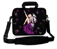 10 Purple Betty Boop Laptop Carrying Sleeve Case Bag+Shoulder Strap For 9.7-10.2 Netbook Laptop Tablet PC<br><br>Aliexpress