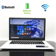 15.6' inch 16:9 HD screen laptop Windows10 In-tel HD Graphics 8000MAh battery 4GB+64GB SSD Notebook ultrabook computer webcam(China)