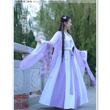 bb54cfd2b Chinese Style Costume Hanfu Fresh Elegant Chinese Element Fairy Female  Student Autumn Winter Dress(China