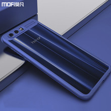 Honor 9 case Huawei honor 9 cover transparent case hard PC soft edge blue huawei honor9 case capa coque funda accessories 5.15""