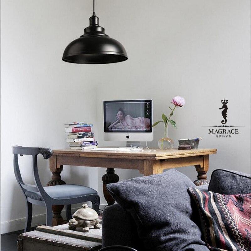 290mm Iron American Style Retro Industrial Pendant Lamp E27 Droplight Hanging Light Dining   Living Room Bar Cafe Droplight <br>