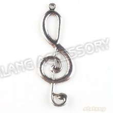 New Arrival 30pcs/lot New Musical Note Pendant Alloy Antique Silver Plated Jewelry Finding Fit Jewerly DIY 60*21*2mm 142827