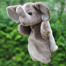 Pink Grey Elephant Hand Puppet Baby Kids Child Soft Hand Puppet Doll Plush Hand Puppets Plush Stuffed Interactive Toy 974541