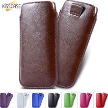 KISSCASE 5.5inch Universal Phone Case For iPhone 6 6S Plus 7 7 Plus 4s 5s SE Leather Cover For Samsung Galaxy S3 S4 S5 Slim Case