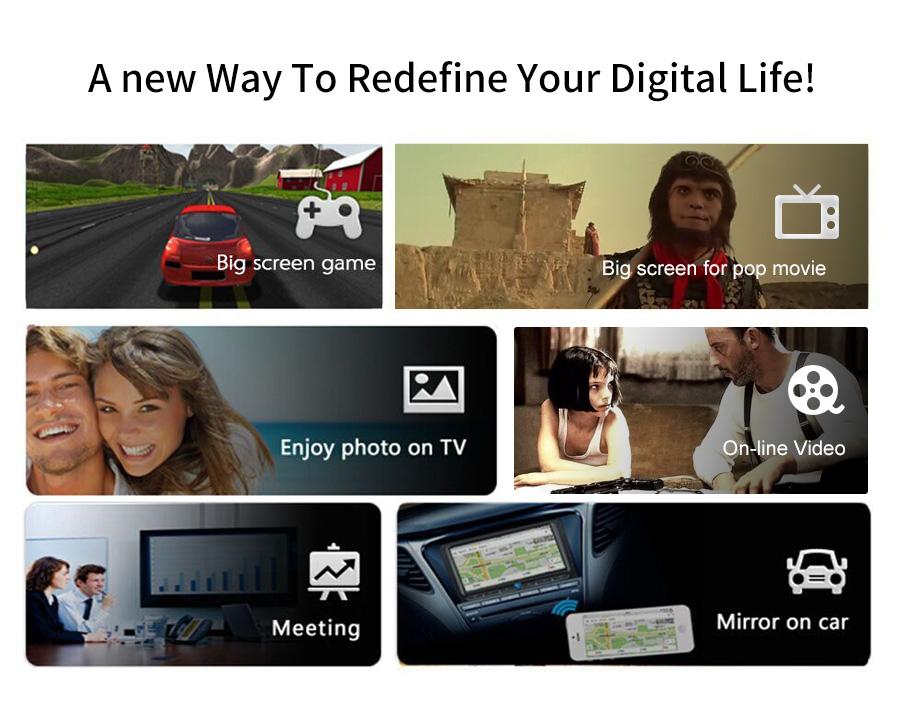 عرض لاسلكي من الهواتف الذكية الى التلفاز Mirascreen MX جديد 3