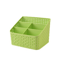 YOLALA 5 Cell Hot Sale Candy Color Home Office Desktop Basket Sundries Storage Box Practical Organizer Box