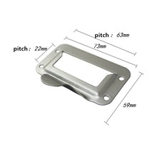 Furniture Metal Handle Drawer Cabinet Door Knob and Handle Kitchen Cupboard Label Cards Tag Card,Silver Color,73*59mm,2pcs(China)