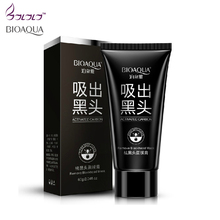 suction black mask deep cleansing nose blackhead remover facial mask black head acne black mud face mask beauty skincare bioaqua(China)