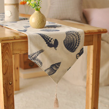 European style Mediterranean home tablecloths foreign high-grade printing table flag linen table runner(China)