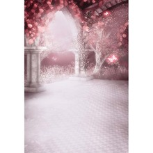 Customize vinyl cloth 3 D pink butterfly wonderland door photo backgrounds for newborn photography studio backdrops CM-2875