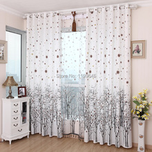 Blinds New Arrival Garden Tree Curtain Cortina 2015 The Curtains Shading Cloth High-grade Bedroom Floating free Shipping