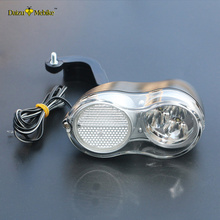 36V Electric Bike Bicycle Light 200CM Wire Cycling Bright Headlamp Bicycle Accessories E Bike Headlight Front Light Parts(China)
