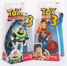 "2pcs/lot Free Shipping 6""15cm Toy Story Buzz light year With Wing Woody PVC Figure Toy With Box(China)"