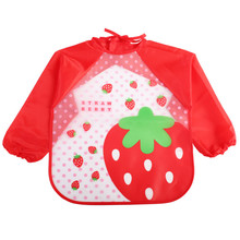 Cartoon Children Baby Bibs Burp Cloths Long Sleeve Art Apron Animal Smock Todders Waterproof Burp Clothes Soft Feeding Eat Bibs