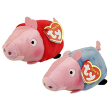"Ty Teeny Tys 4"" 10cm Red Pig and George Pig Stackable Plush Set Stuffed Animal Collectible Big Eyes Doll Toy(China)"