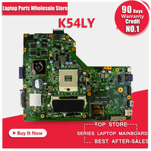 Free Shipping For ASUS motherboard K54LY USB3.0 1GB HM65 216-0809000 X54HR K54HR X54H x54hy laptop Mainboard work perfect(China)