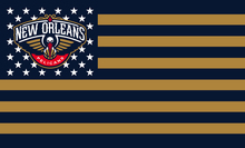 New Orleans Pelicans Flag USA With Stars and Stripes  Flag 3x5 ft custom Banner 90x150cm Sport flag Stainless Steel Grommets
