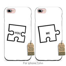 Funny Graphic  Puzzle Design Me and You.  couple phone Accessories cover For iPhone  se 5s 6s 7 plus case